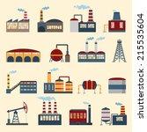 industrial building factories... | Shutterstock .eps vector #215535604