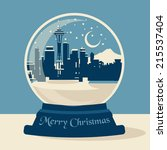 ball,card,christmas,merry,needle,ornaments,seattle,skyline,snow,space,winter