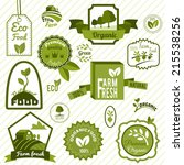 farm fresh natural products...   Shutterstock .eps vector #215538256