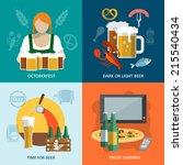 dark and light beer oktoberfest ... | Shutterstock .eps vector #215540434