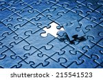 Last Piece Of Jigsaw Puzzle.
