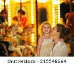 portrait of happy mother and...   Shutterstock . vector #215548264