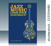 jazz music | Shutterstock .eps vector #215554480