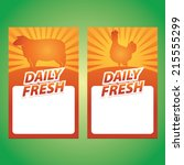 daily fresh lamb and chicken... | Shutterstock .eps vector #215555299