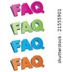 frequently asked questions   Shutterstock .eps vector #21555901