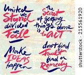 set of vintage calligraphic... | Shutterstock .eps vector #215561920