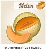 melon. detailed vector icon.... | Shutterstock .eps vector #215562880