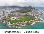 aerial view of cape town south... | Shutterstock . vector #215564359