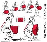safe handling of heavy items ... | Shutterstock .eps vector #215569960
