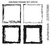 grunge frame. vector... | Shutterstock .eps vector #215570380