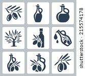 olive oil related vector icons... | Shutterstock .eps vector #215574178