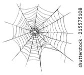 vector spider's web on white...