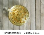 herbal tea with chamomile... | Shutterstock . vector #215576113