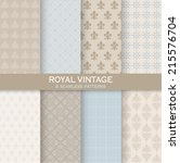 8 seamless patterns. royal... | Shutterstock .eps vector #215576704