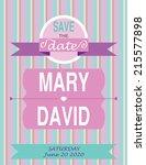 wedding invitation card... | Shutterstock .eps vector #215577898