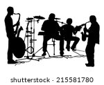 musicians silhouettes set | Shutterstock .eps vector #215581780