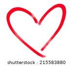 hand drawn heart shape | Shutterstock . vector #215583880