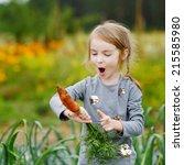 Adorable Little Girl Picking...