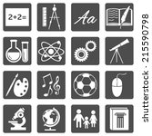 vector set of  school subjects... | Shutterstock .eps vector #215590798