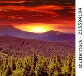 Stock photo fantastic sunrise in the mountains 215594194