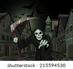 halloween horrible grim reaper...