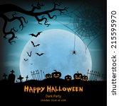 halloween vector background... | Shutterstock .eps vector #215595970
