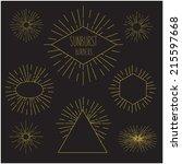 vintage sun burst frames | Shutterstock .eps vector #215597668