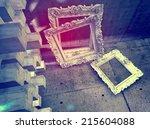 3d abstract surreal interior  | Shutterstock . vector #215604088