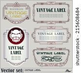 border style labels on... | Shutterstock .eps vector #215608684