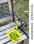 beautiful bouquet of... | Shutterstock . vector #215611126