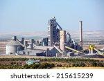 cement factory  | Shutterstock . vector #215615239