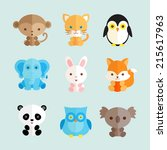set of different animals icons. ...   Shutterstock .eps vector #215617963