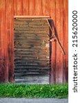 Old Weathered Black Barn Door...