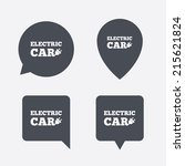 electric car sign icon....   Shutterstock .eps vector #215621824
