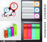 modern business infographics set | Shutterstock .eps vector #215632810