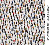 A large group of people. Vector seamless background | Shutterstock vector #215633524
