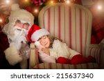 Santa Claus And Happy Kid....