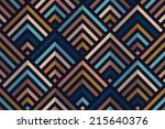 seamless geometric color... | Shutterstock .eps vector #215640376