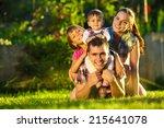 Happy Young Family Having Fun...