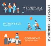 family parenting children kids... | Shutterstock .eps vector #215643196