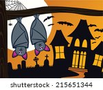 cute and spooky halloween scene ...