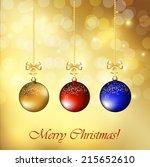 christmas background | Shutterstock .eps vector #215652610