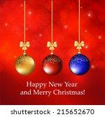 christmas background | Shutterstock .eps vector #215652670