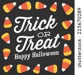trick or treat happy halloween... | Shutterstock .eps vector #215670289
