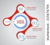abstract vector circle... | Shutterstock .eps vector #215676754