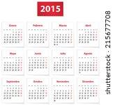 calendar for 2015 year on white ... | Shutterstock .eps vector #215677708