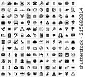 universal web icon vector on... | Shutterstock .eps vector #215682814