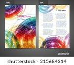 vector business brochure  flyer ... | Shutterstock .eps vector #215684314