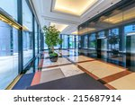 perspective of the modern lobby ... | Shutterstock . vector #215687914