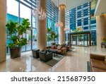 modern lobby  hallway  plaza of ...   Shutterstock . vector #215687950